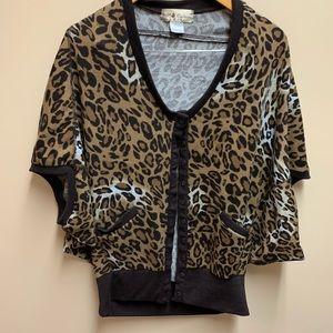 5th Culture Leopard print  cardigan M